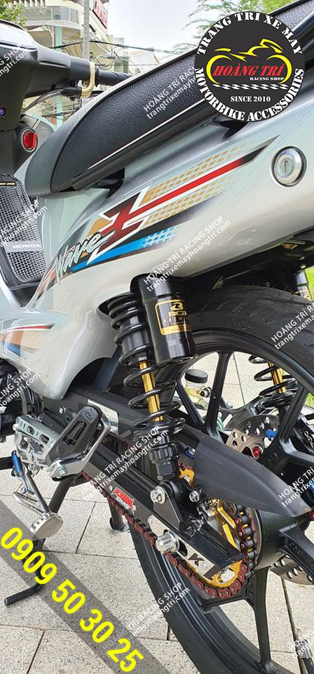 Cận cảnh chi tiết phuộc bình dầu Racing Boy Premium VD