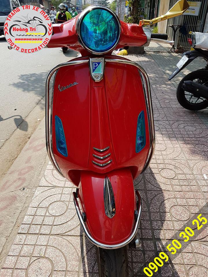 Cản chính hãng Vespa lắp cho Vespa Primavera màu đỏ