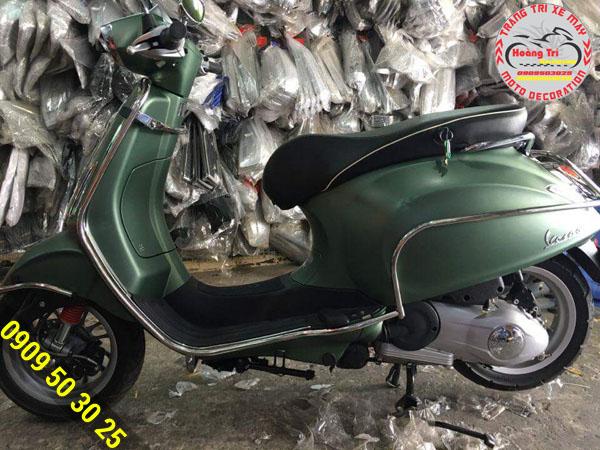 Khung bảo vệ inox cho Vespa bảo vệ xế bạn chống trầy xước sơn zin
