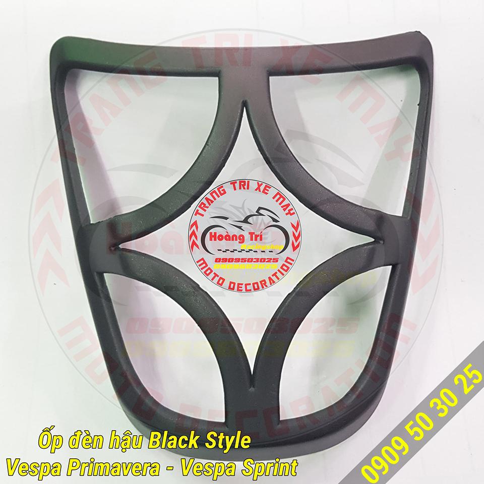 Ốp đèn lái black style vespa