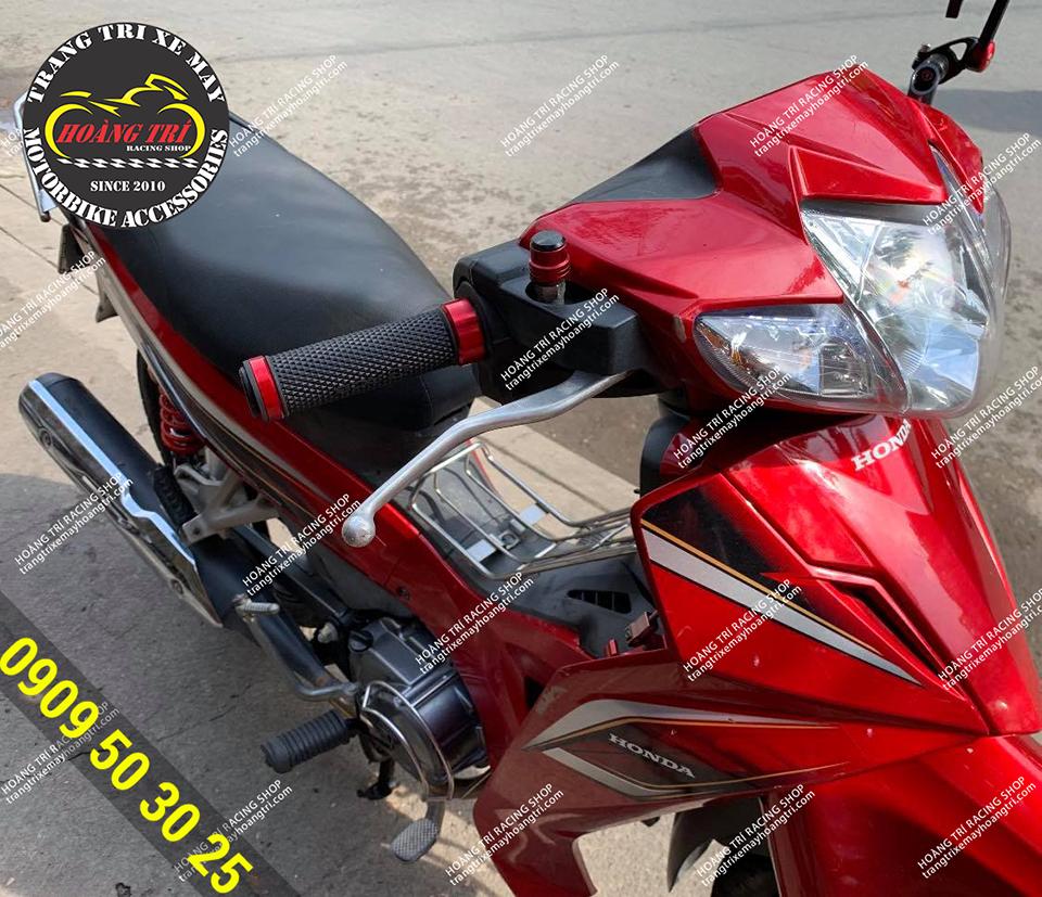 Bao tay Racing Boy V8 đen đỏ lắp cho Wave Blade
