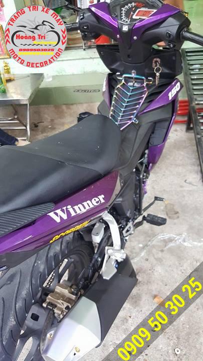 Baga xi titan trên xế yêu Winner 150