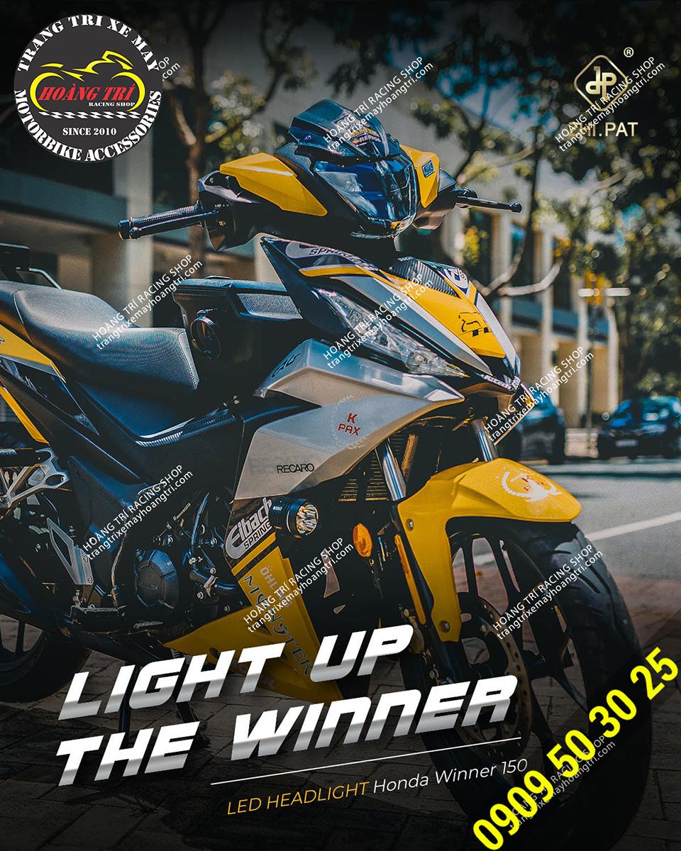 Chiếc Winner V1 màu vàng lên nhiều sản phẩm độ kiểng trông thật hoành tráng