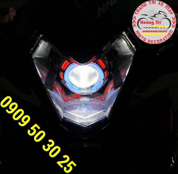 Thay đổi phong cách cho xế bằng cách gắn đèn gương cầu cho winner 150