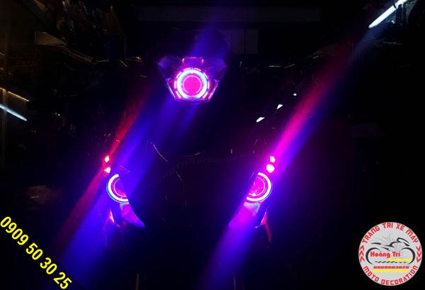 Hiệu ứng ánh sáng của đèn mắt cú winner cực đẹp