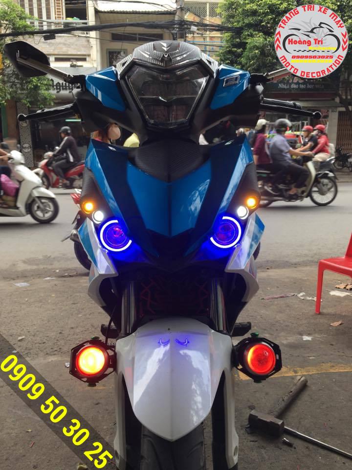 Mắt cú winner đèn xanh và viền xanh