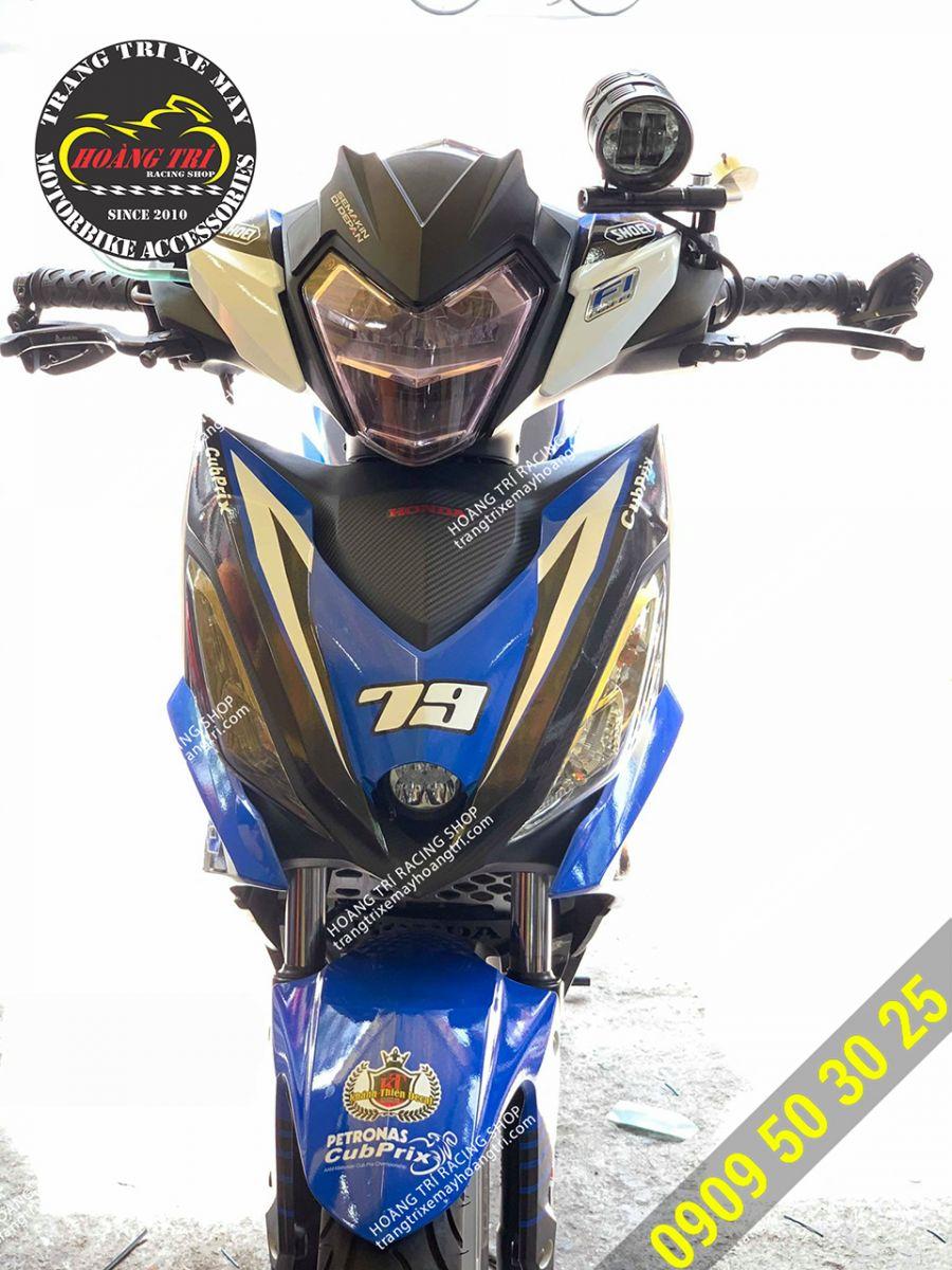 Winner 150 (Winner V1) lắp đèn Kenzo M4S tại chân kiếng hậu