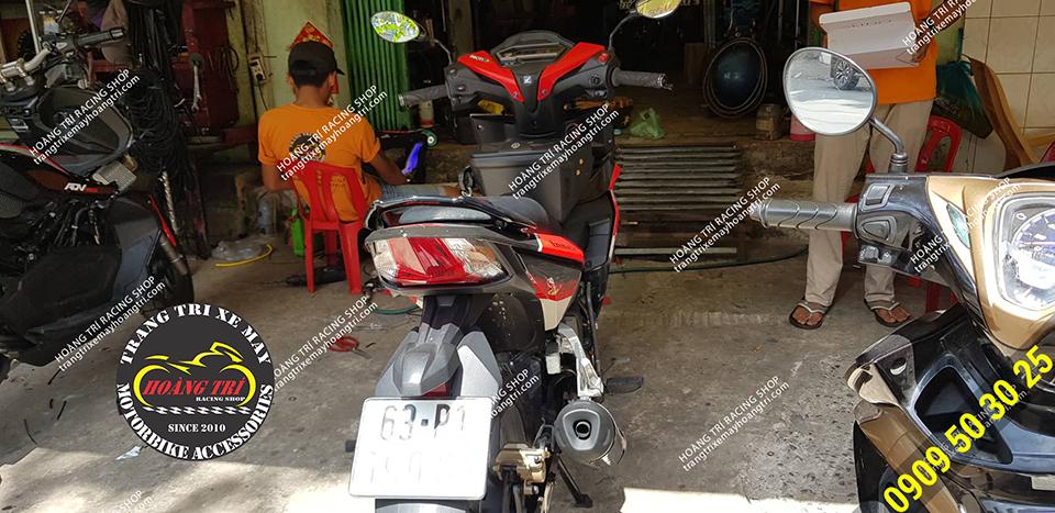 Anh khách đến từ Tiền Giang độ combo Winner X cho Winner V1