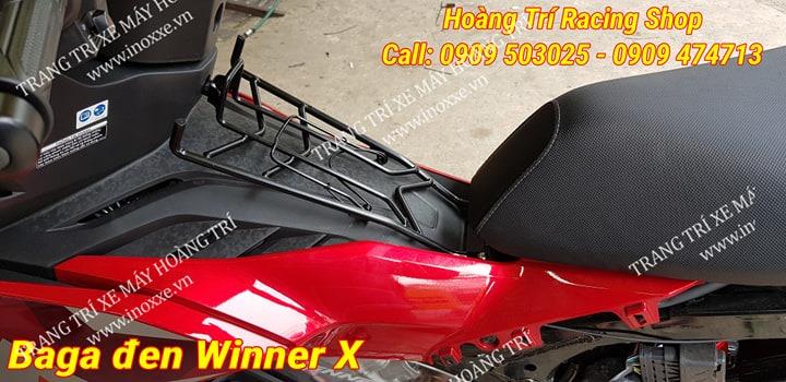 Black baga product mounted on Winner X car