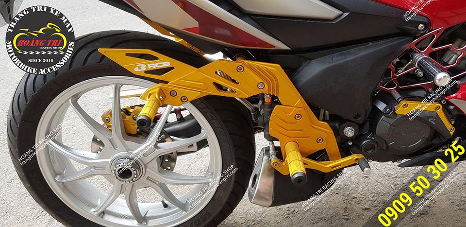 Bộ số gãy Racing Boy màu vàng lắp cho xe Winner X