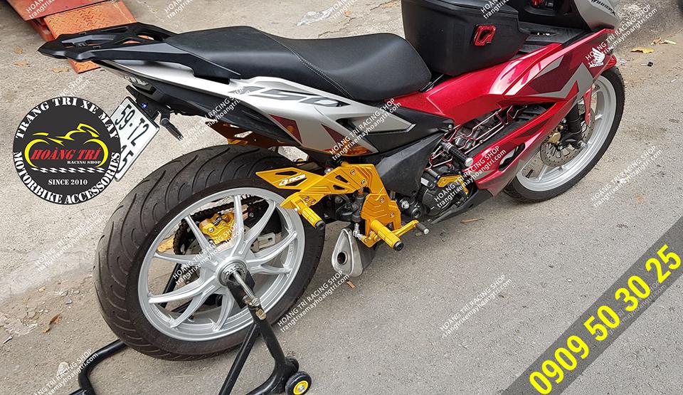 Màu vàng nổi bật trên xe Winner X