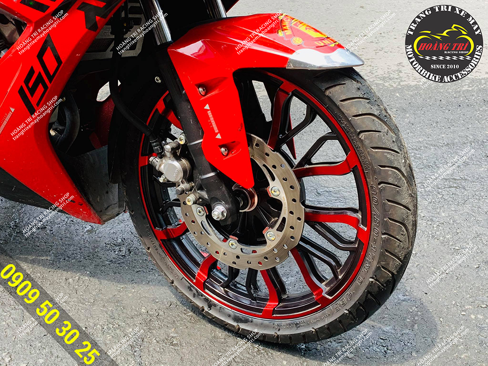 Red kuni with red Winner X (front wheel)