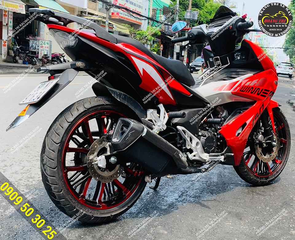 Red kuni with red Winner X (rear wheel)