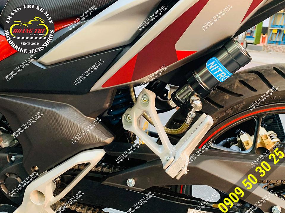 Phuộc bình dầu Nitron F 360 độ đã được lắp cho Winner X