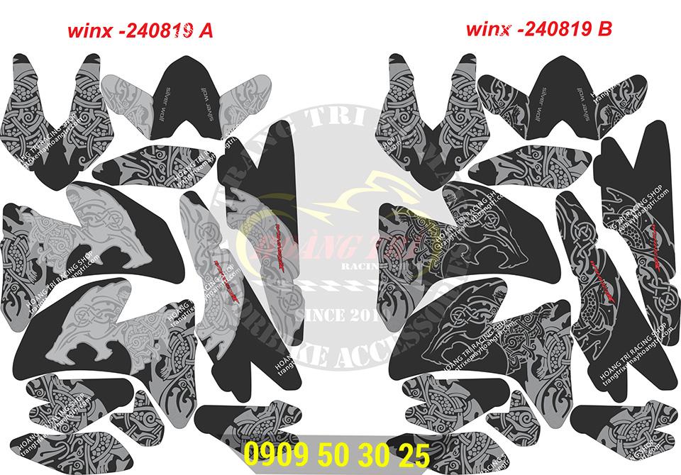 2 mẫu tem WinX-240819A và WinX-240819B (khác màu họa tiết giống)