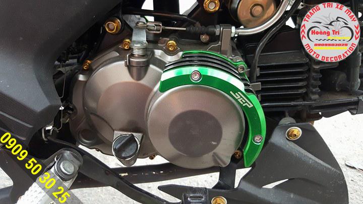 Cận cảnh bảo vệ lốc máy Kawasaki 125CC
