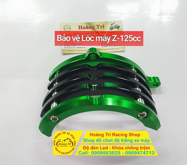 Bảo vệ lốc máy Kawasaki Z125cc - với màu xanh lá cây nổi bật